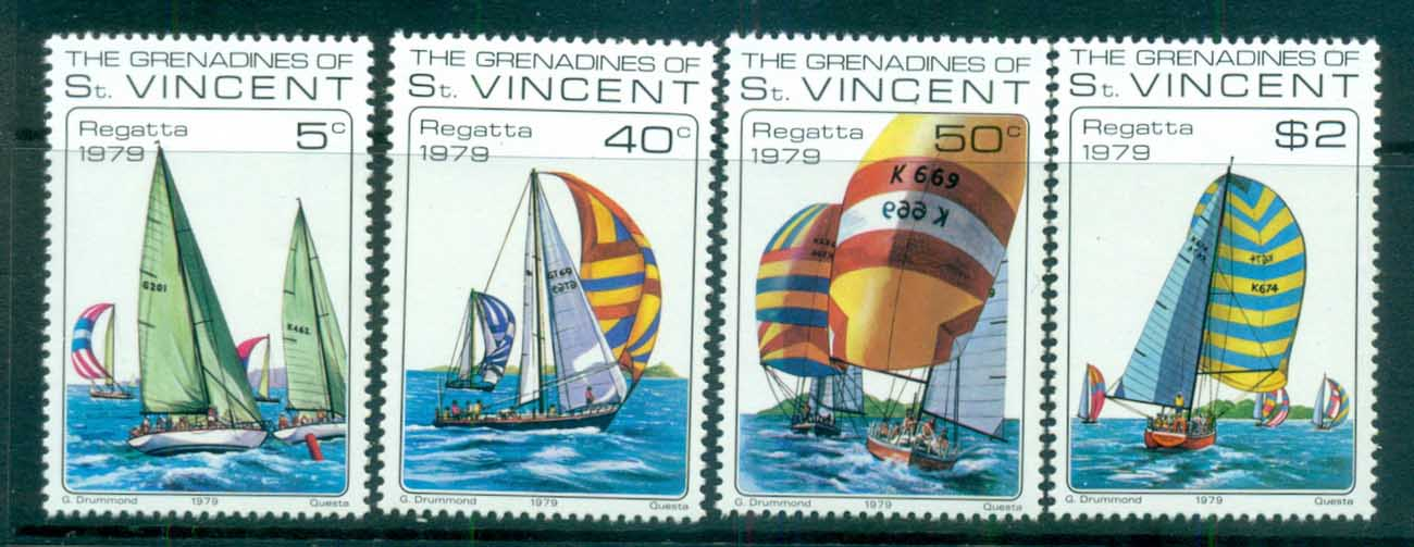 St Vincent Grenadines 1979 Sailing Yachts MUH lot72979