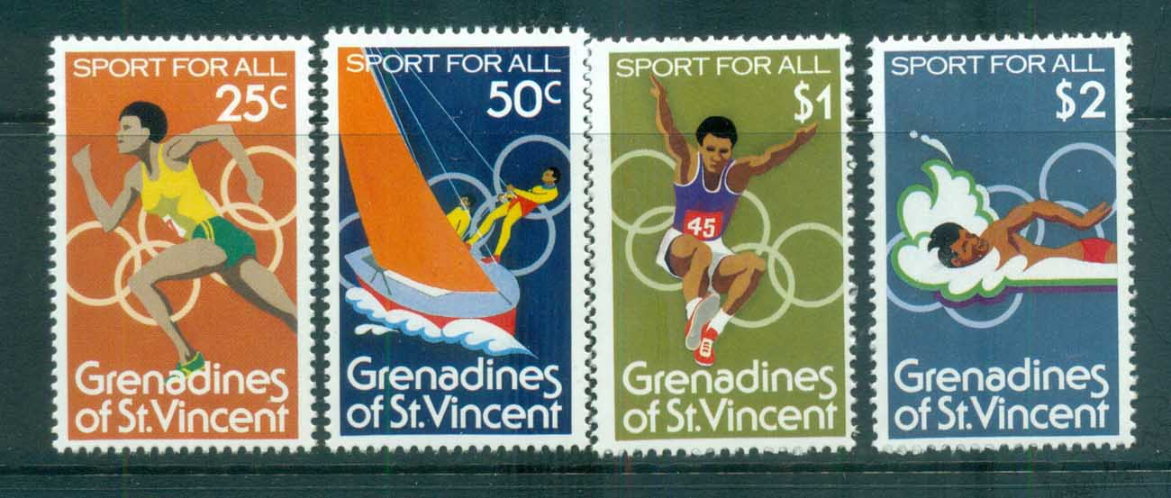 St Vincent Grenadines 1980 Olympic Sports MUH lot72985