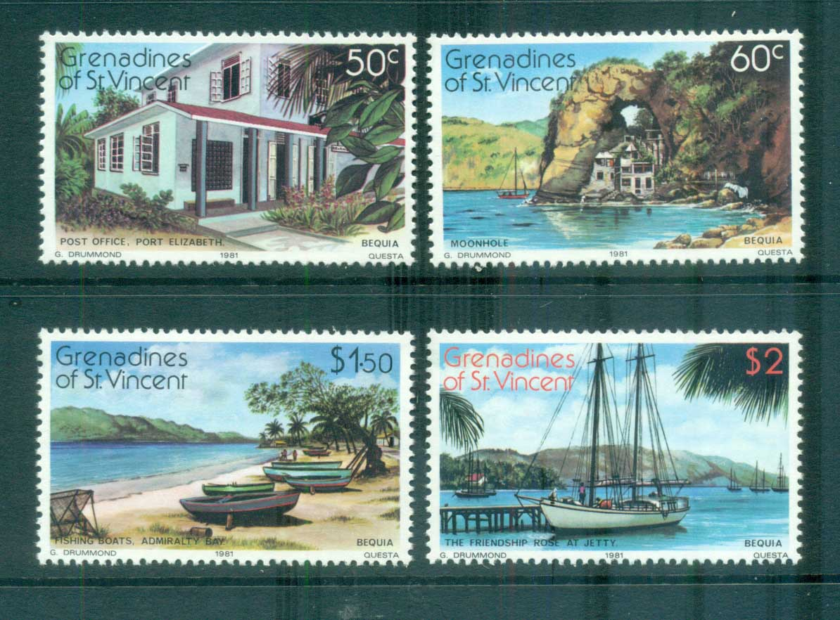 St Vincent Grenadines 1981 Bequia Island Views MUH lot72989