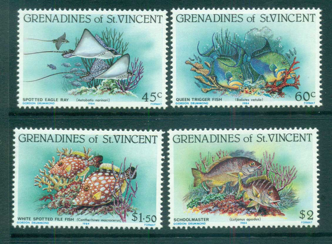 St Vincent Grenadines 1984 Fish, Marine Life MUH lot73010