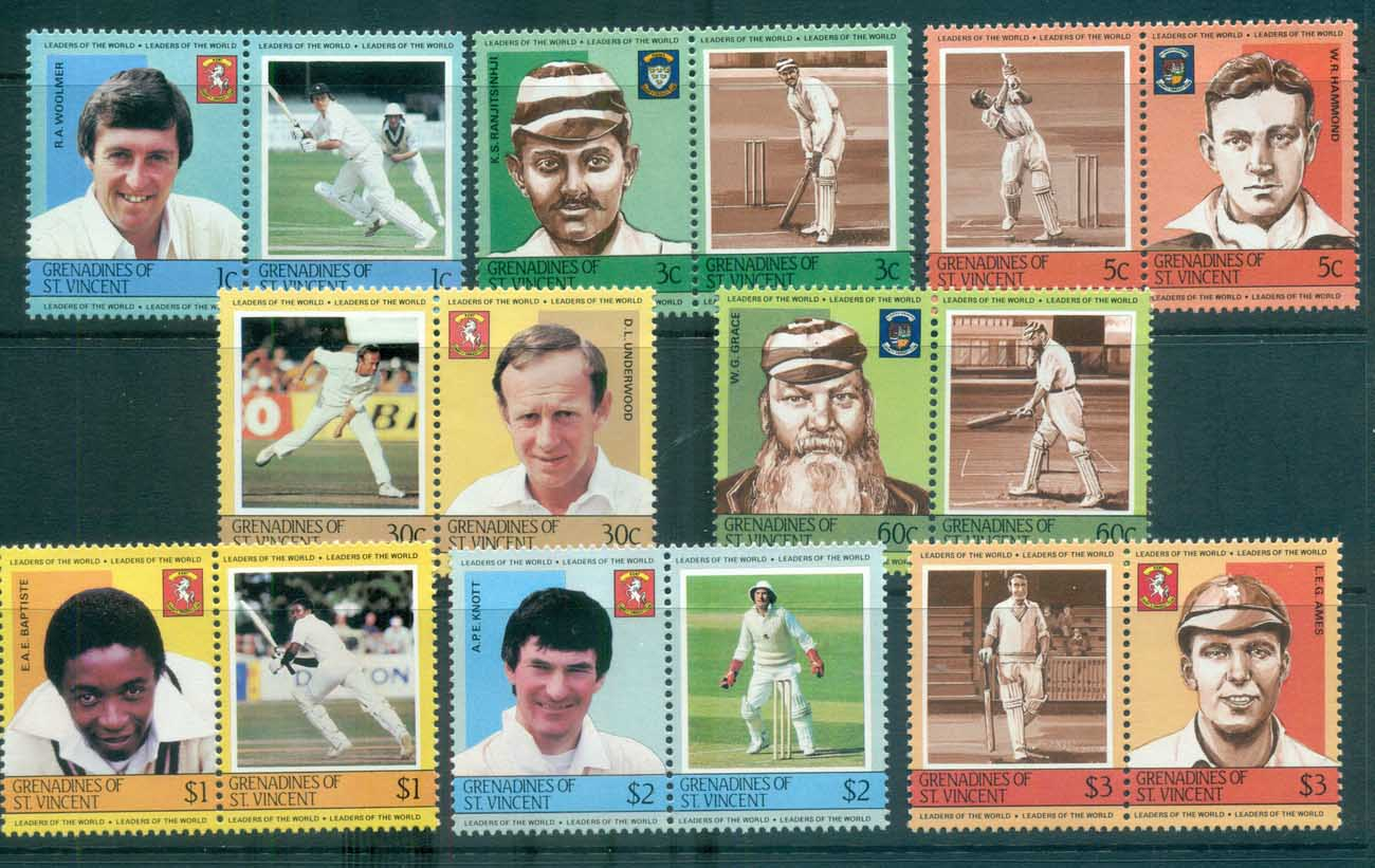 St Vincent Grenadines 1984-85 LOW Cricket Players I MUH lot73011