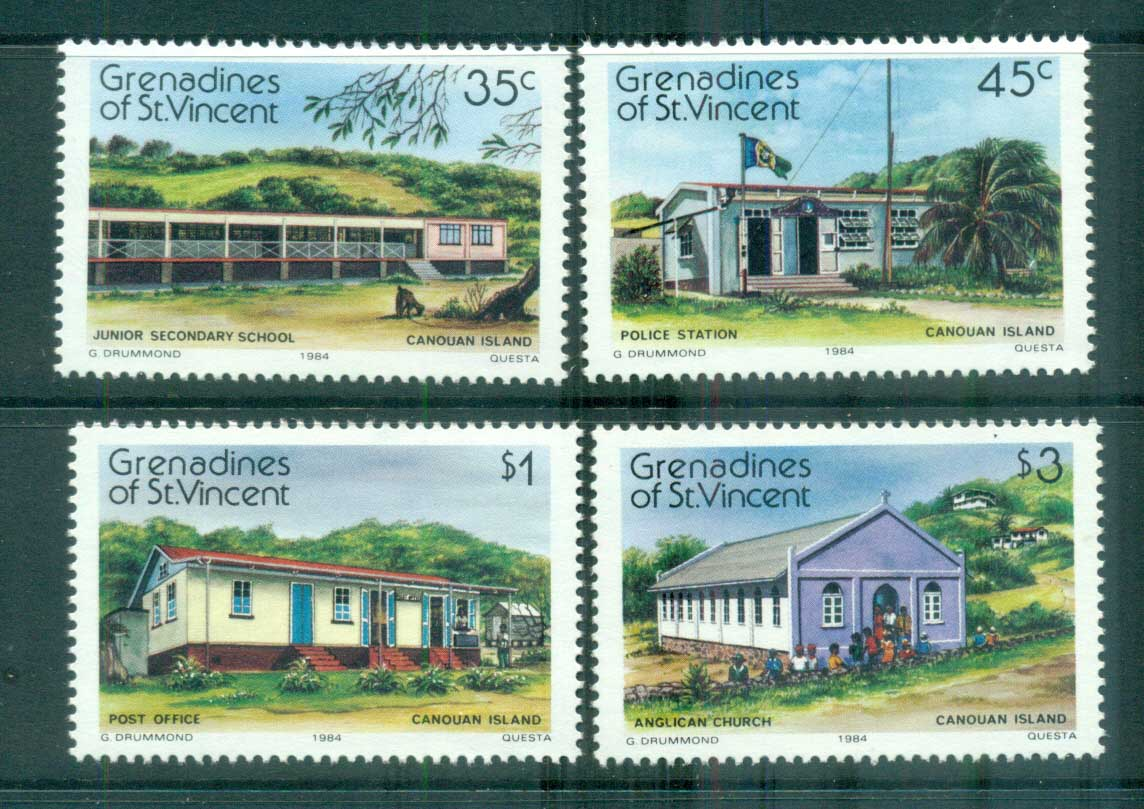 St Vincent Grenadines 1984 Canouan Island Views MUH lot73013