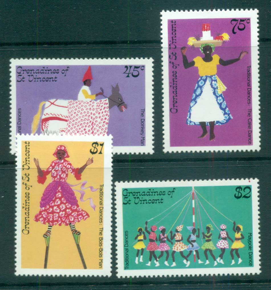 St Vincent Grenadines 1985 Traditional Dances MUH lot73017