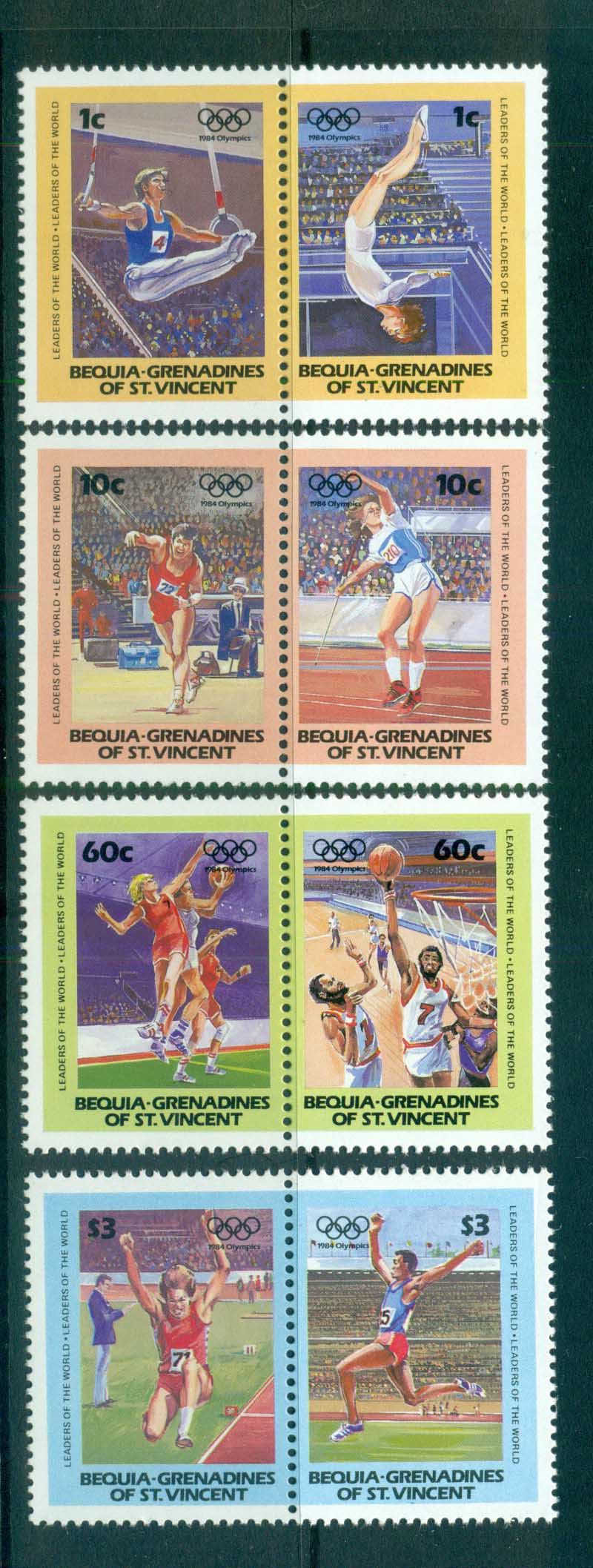 St Vincent Bequia 1984 Summer Olympics MUH lot73024