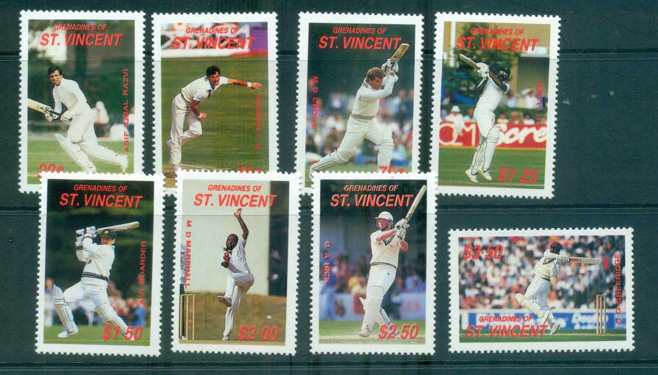 St Vincent Grenadines 1988 Cricketers MUH lot73034