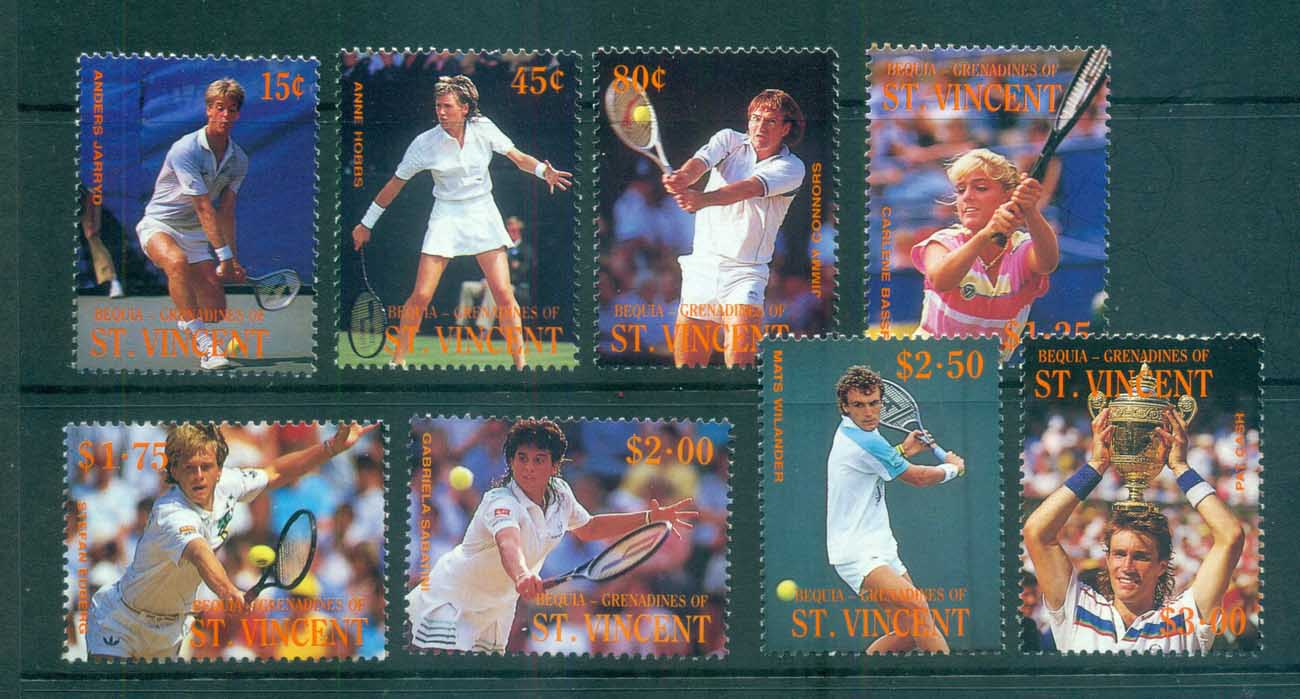 St Vincent Bequia 1988 Tennis MUH lot73045