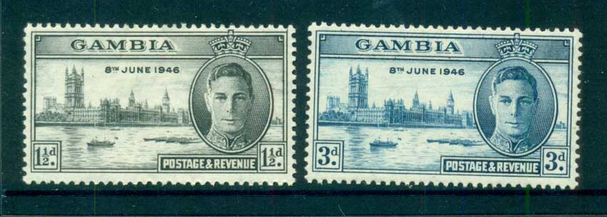 Gambia 1946 Victory MlH lot73047