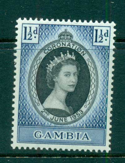 Gambia 1953 Coronation MLH lot73051