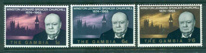 Gambia 1966 Churchill MUH lot73060