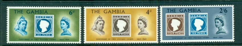 Gambia 1969 Stamp Anniv. MUH lot73061