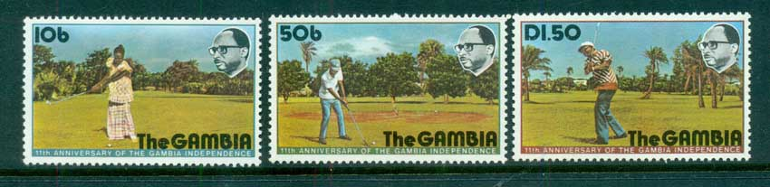 Gambia 1976 Independence Anniv., Golf MUH lot73087
