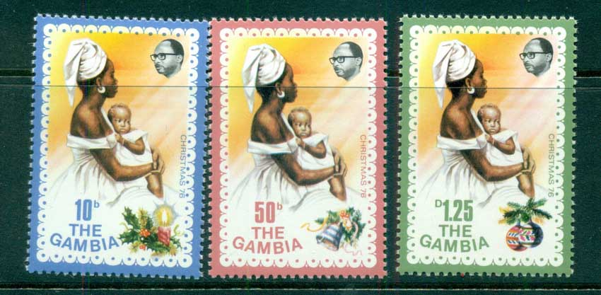 Gambia 1976 Xmas, Mother & Child MUH lot73089