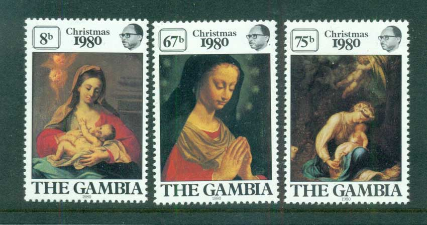 Gambia 1980 Xmas, Paintings MUH lot73116
