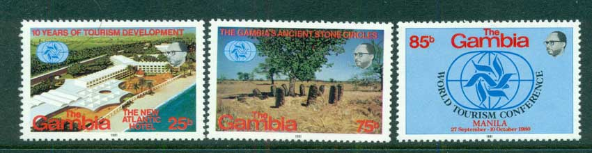 Gambia 1981 World Tourism Conference, Manilla MUH lot73117
