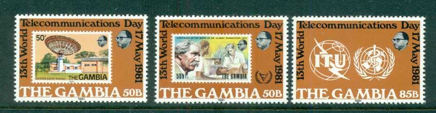 Gambia 1980 World telecommunications Day MUH lot73119