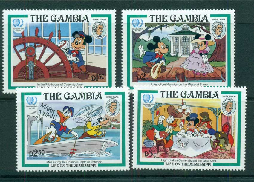 Gambia 1985 Disney, Life on the Mississippi MUH lot73159
