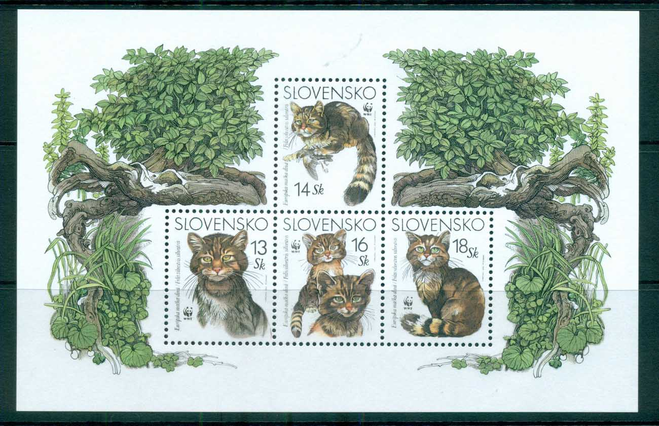 Slovakia 2003 WWF European Wild cat MS MUH lot73227