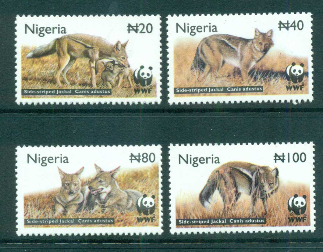 Nigeria 2003 WWF Side-striped Jackal MUH lot73232