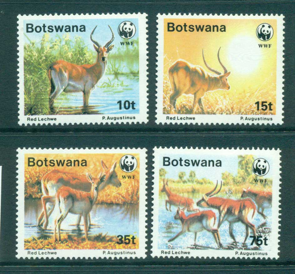Botswana 1988 WWF Red Lechwe MUH lot73244