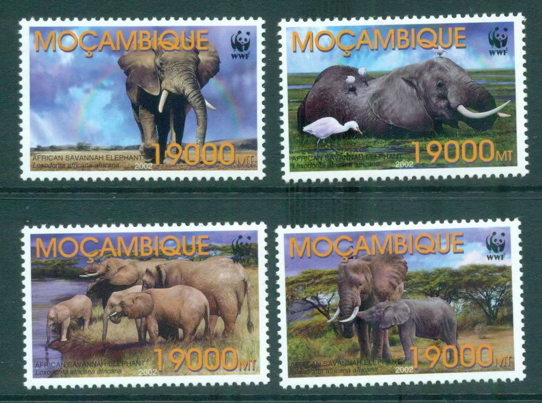 Mozambique 2002 WWF Savannah Elephant MUH lot73157