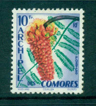 Comoro Is 1959 Flowers MLH lot73288