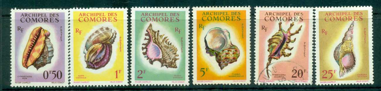 Comoro Is 1962 Shells (6/8,no airs) MLH/FU lot73290