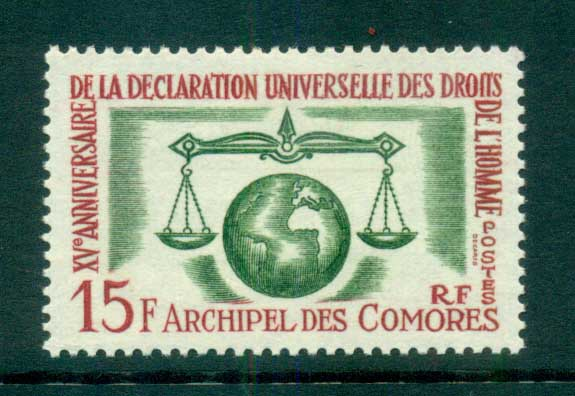 Comoro Is 1963 Human Rights MLH lot73297
