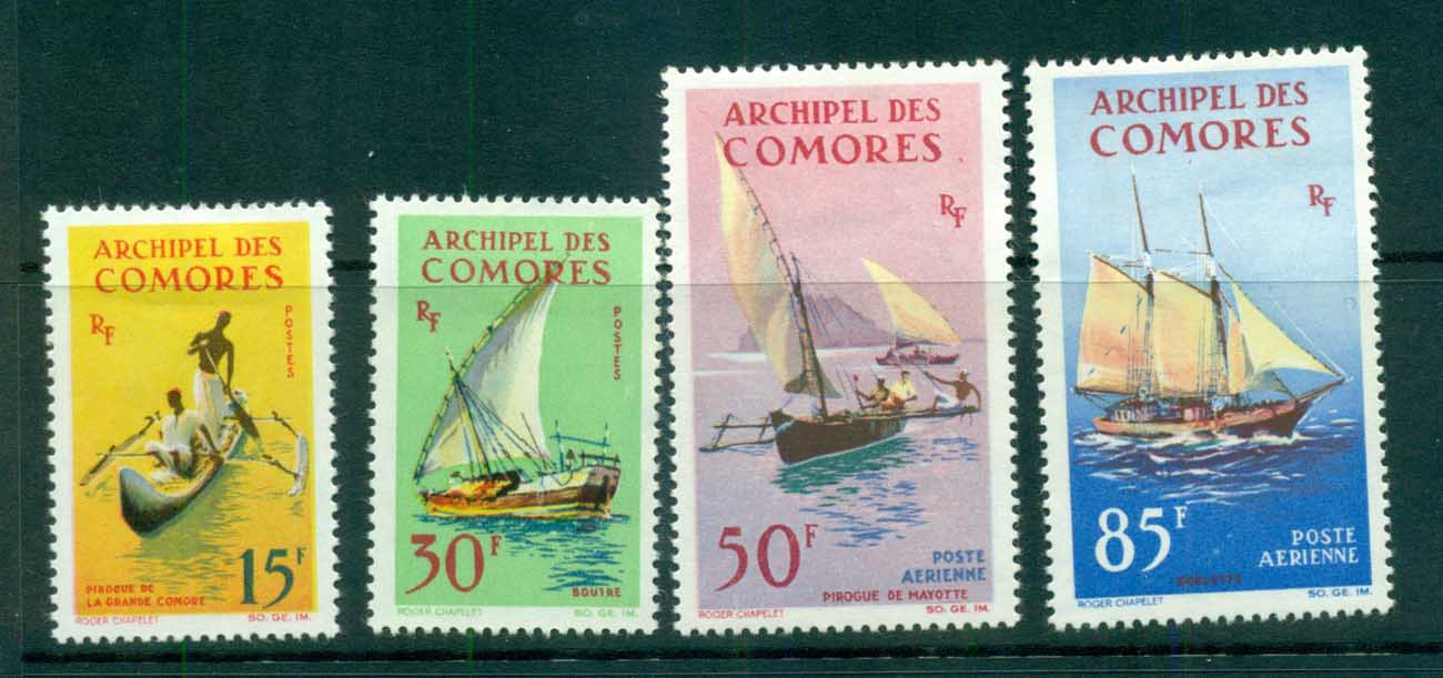 Comoro Is 1964 Canoes & Dhows MLH lot73303