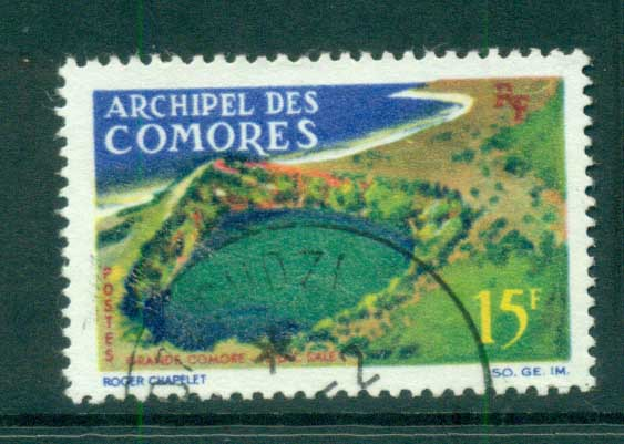 Comoro Is 1966 Lake sale 25f FU lot73305
