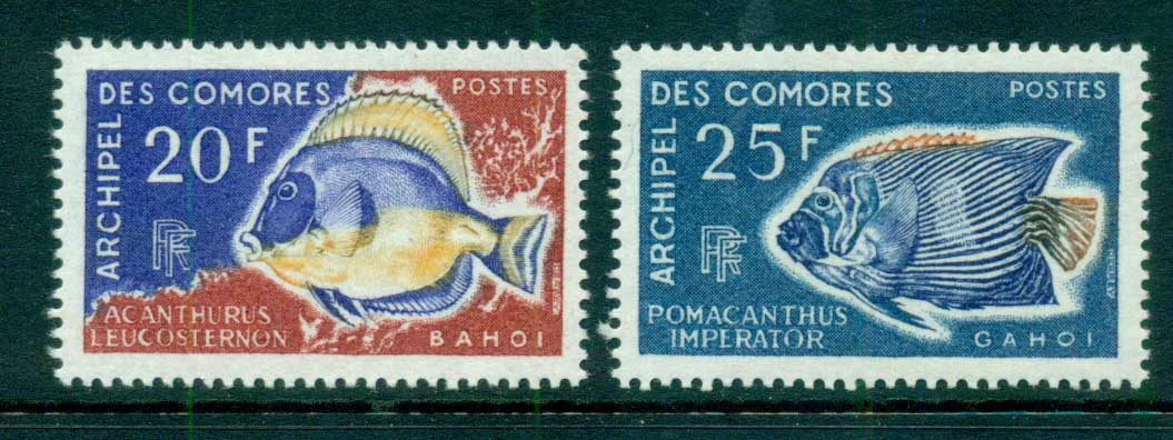Comoro Is 1968 Fish (2/4, no airs) MLH lot73308