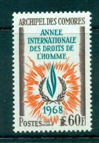 Comoro Is 1968 Human Rights MLH lot73310