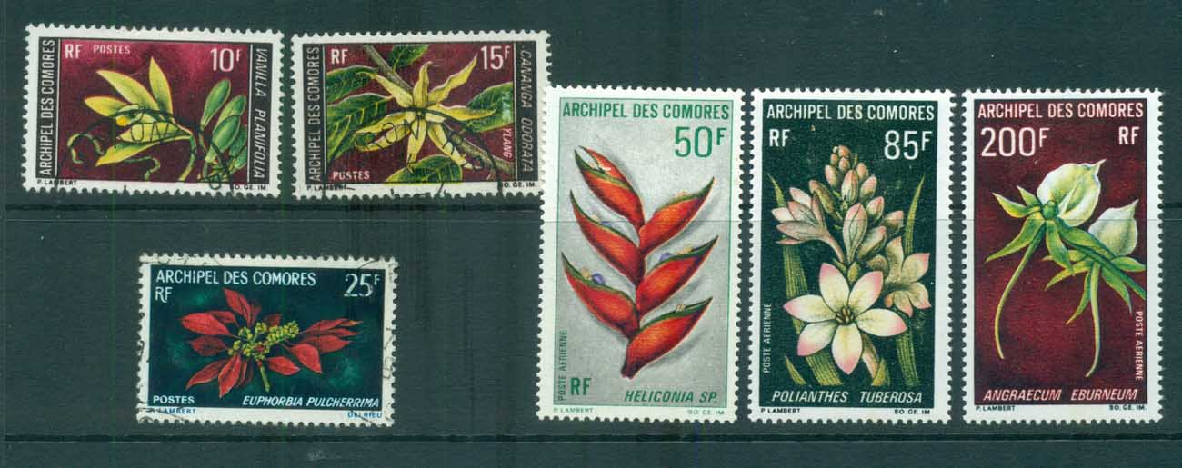 Comoro Is 1969-70 Flowers MLH/FU lot73311
