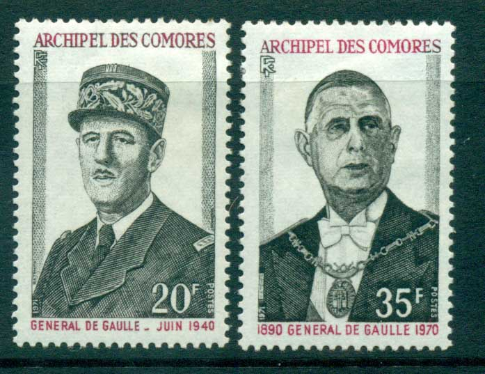 Comoro Is 1971 De Gaulle MLH lot73317