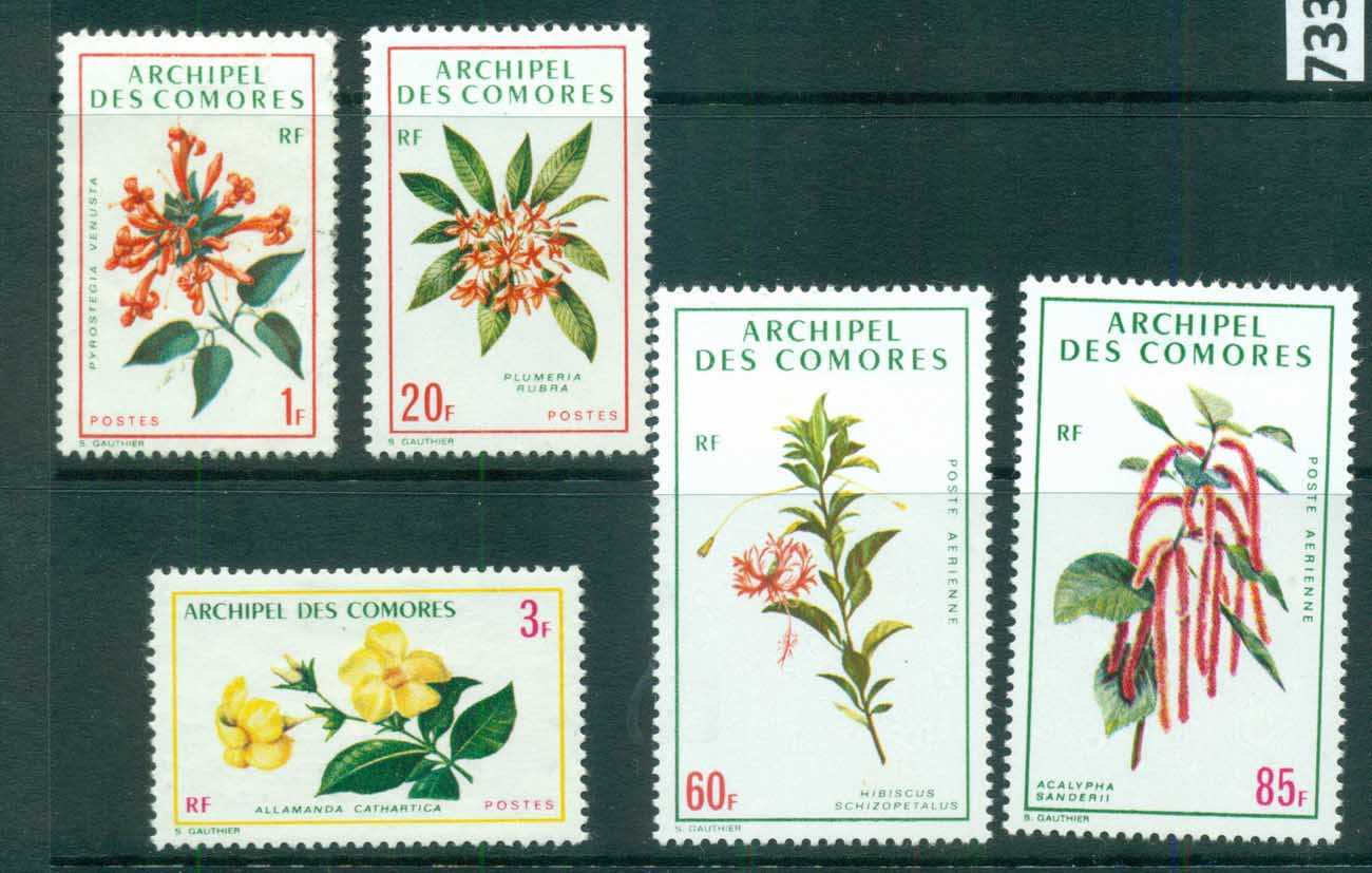 Comoro Is 1971 Flowers MLH lot73318