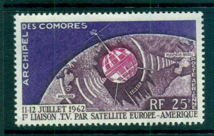 Comoro Is 1962 Telstar Satellite MLH lot73327