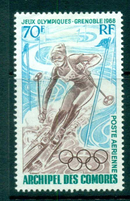 Comoro Is 1968 Grenoble Winter Olympics MLH lot73329