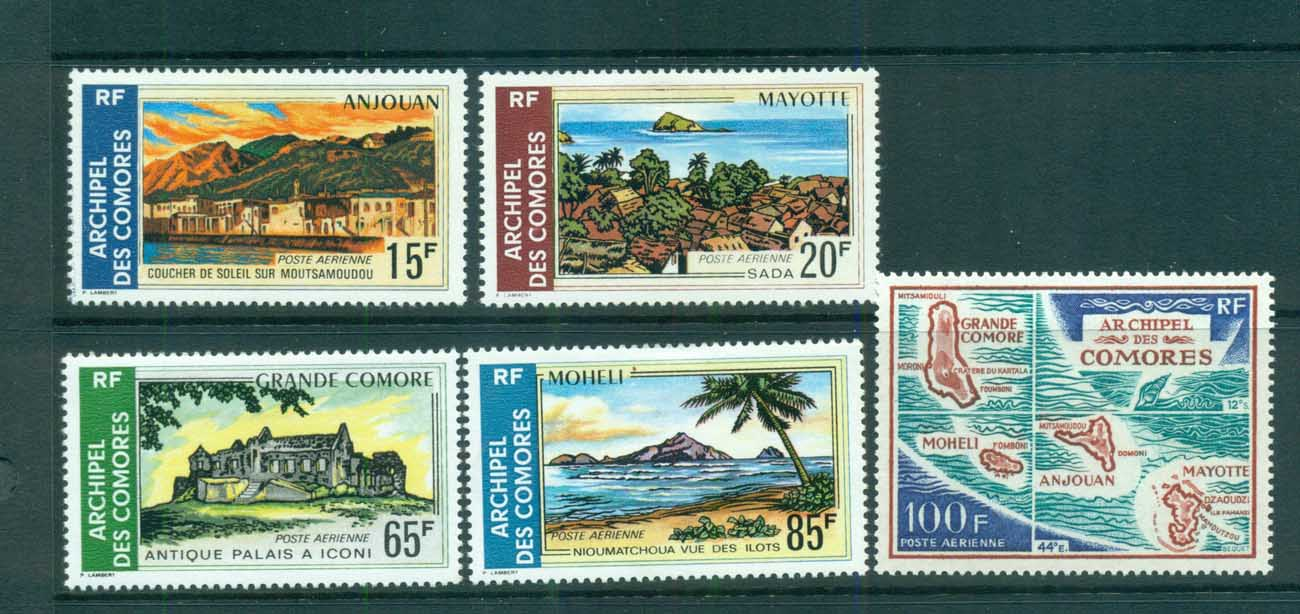 Comoro Is 1971 Views Airmail MLH lot73333