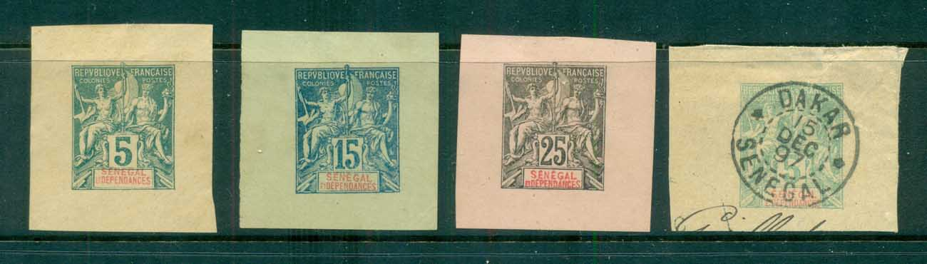 Senegal 1892-1900 Peace & Commerce Asst Stationery cut outs/MNG/FU lot73384