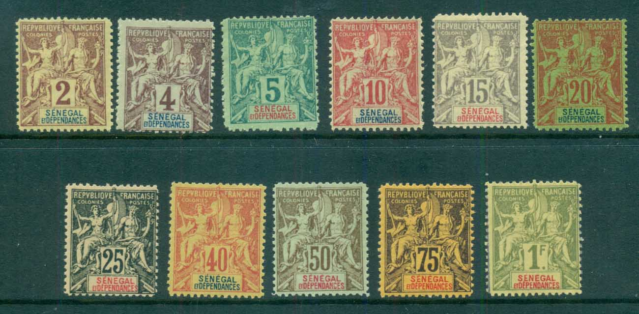 Senegal 1892-1900 Peace & Commerce Asst(faults) MLH/MNG lot73385
