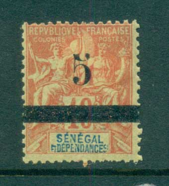 Senegal 1903 Peace & Commerce 5c on 40c (faults) MLH lot73386