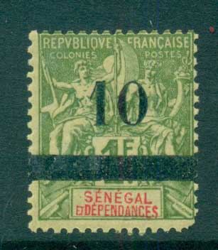 Senegal 1903 Peace & Commerce 10c on 1f (faults) MLH lot73387