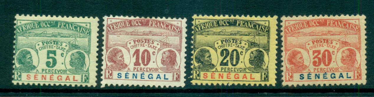 Senegal 1906 Postage Dues Asst MLH lot73396