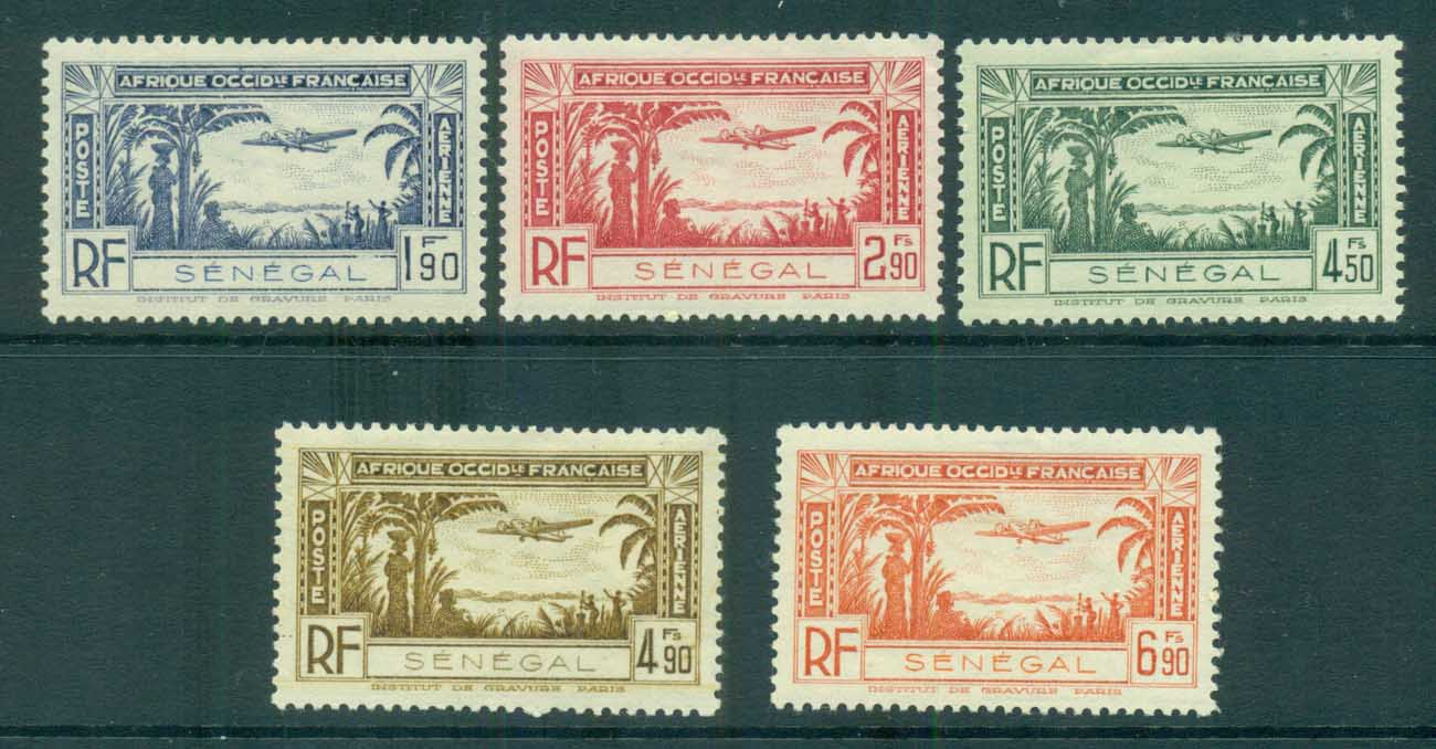 Senegal 1935 Air Post, Landscape reissue MLH lot73409