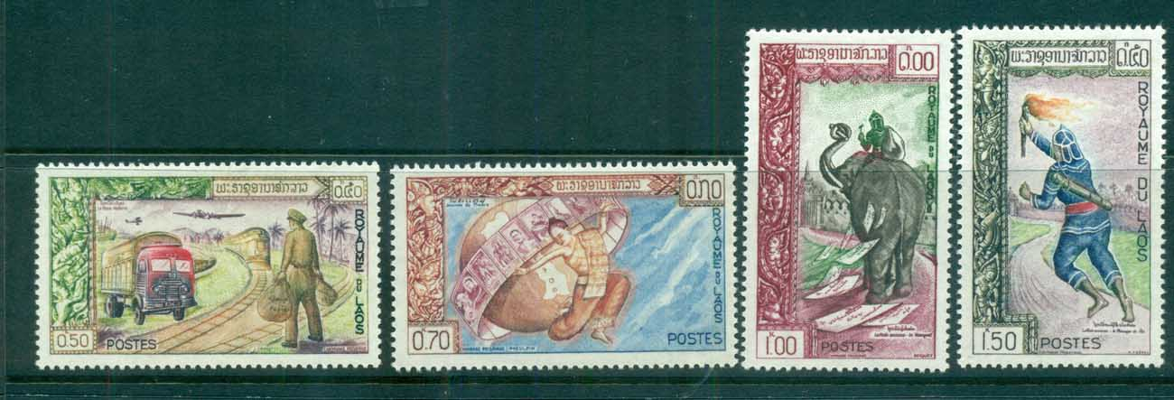 Laos 1962 Stamp day MLH lot73616
