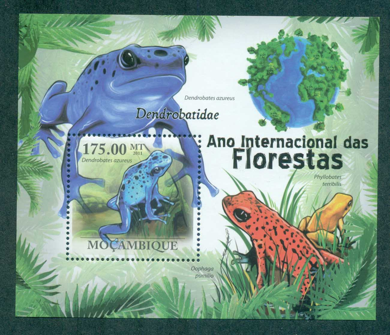 Mozambique 2011 Reptiles, Frog MS MUH MOZ11115b
