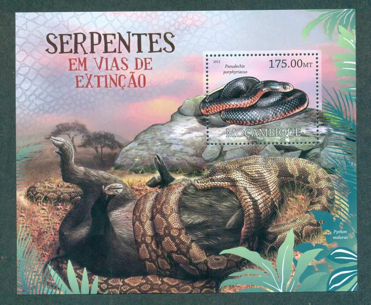 Mozambique 2012 Reptiles, Snakes MS MUH MOZ12215b