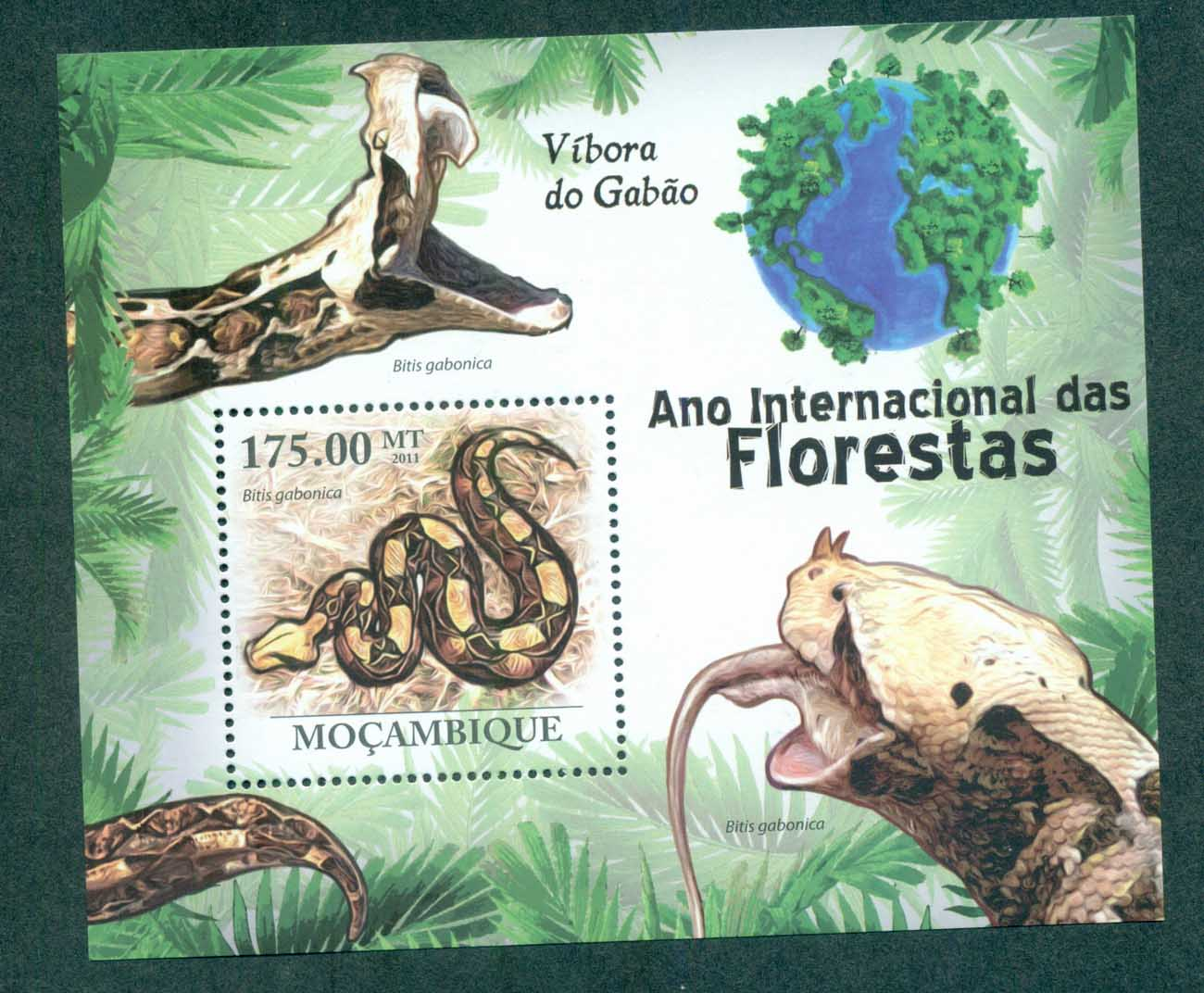 Mozambique 2011 Reptiles, Snakes MS MUH MOZ11126b
