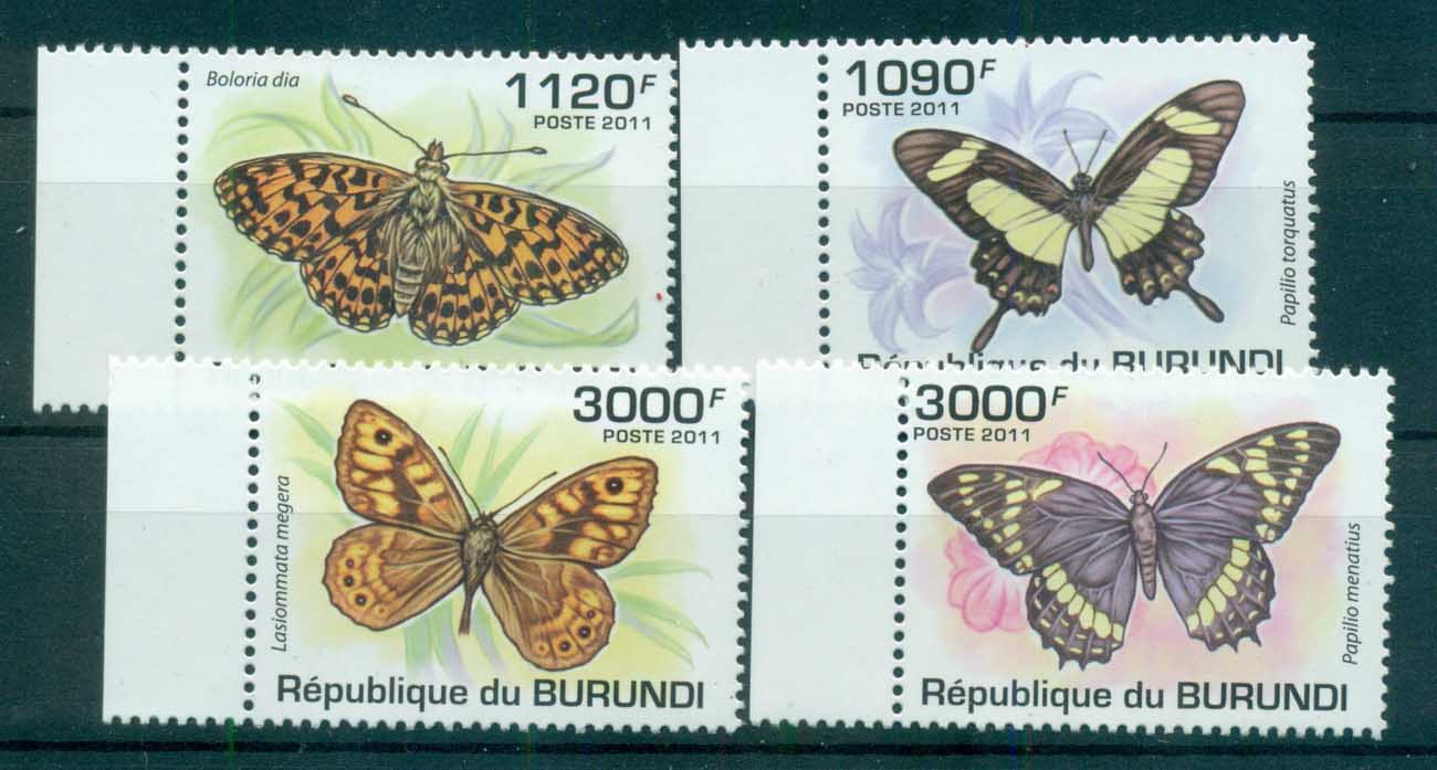 Burundi 2011 Insects, Butterfly, MUH BUR11203a
