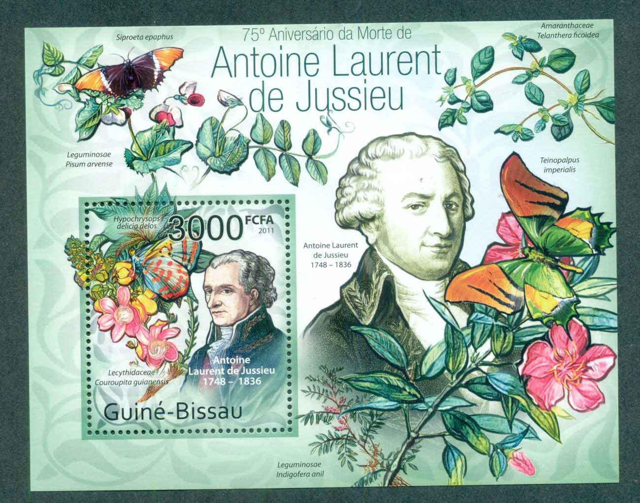 Guinea Bissau 2011 Insects, Butterfly, Antoine Laurent de Jussieu MS MUH GB11419c