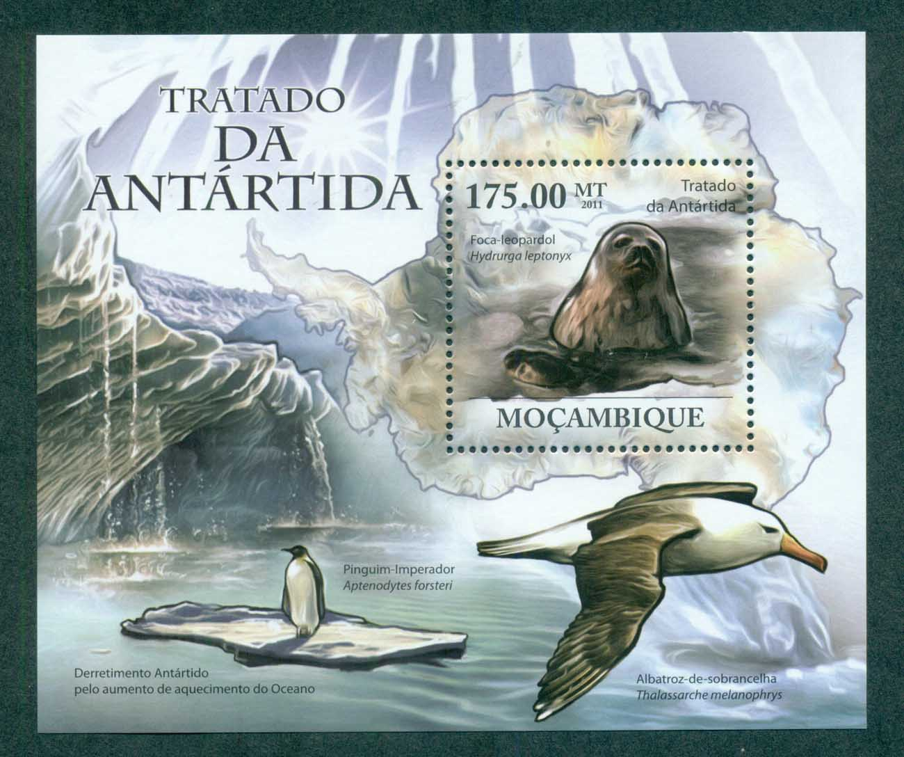 Mozambique 2011 Marine Life,Bird, Seal, Penguin, Map, Albatross MUH MOZ11219b